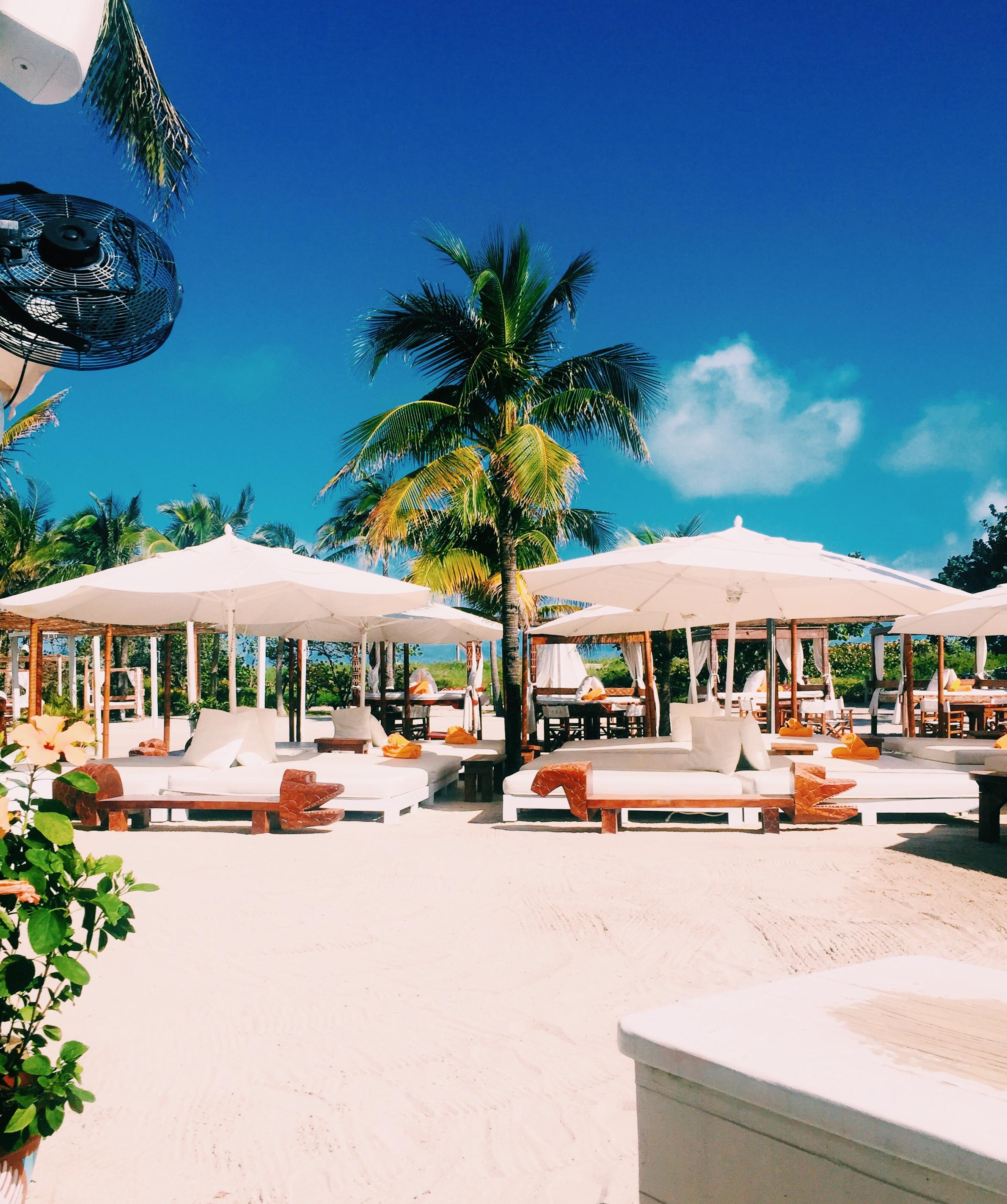 The luxurious beach club at Nikki Beach Miami